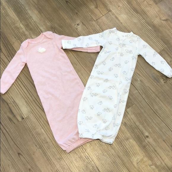 Carter\'s Pajamas | Nwot 2 Baby Girl Sleeper Gowns | Poshmark